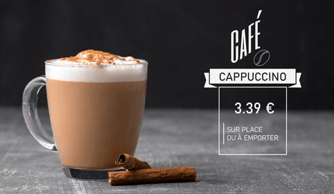 Présentation d'un cappuccino